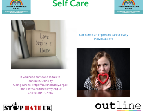 Self-care within the LGBTQI+ community and other minority groups