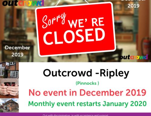 Pinnocks Outcrowd – No Event in December 2019