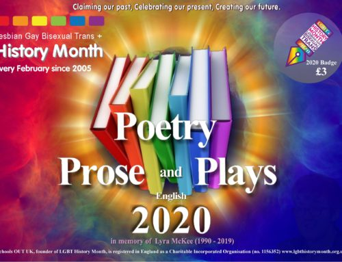 LGBT History Month 2020: Why Poetry, Prose and Plays