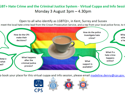 CPS Virtual cuppa for LGBTQI+ Community and Trans & Non Binary Community – June and August 2020